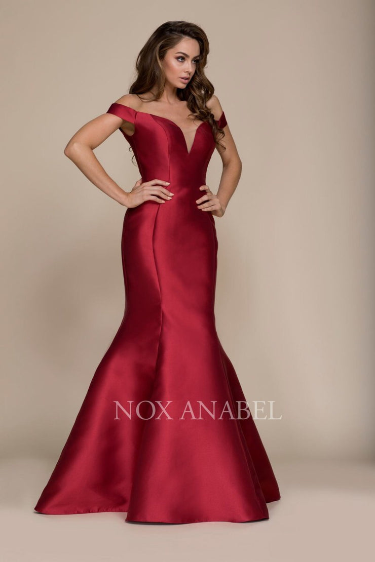 BURGUNDY MERMAID FORMAL PROM DRESS - Chicago Bridal Store Company