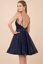 Navy Cocktail Length Dress - Chicago Bridal Store Company