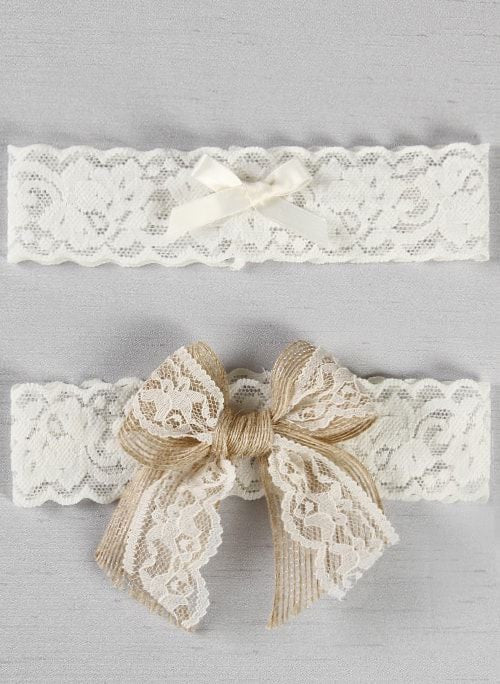 Country Romance Bridal Garter Set White or Ivory Chicagobridalstore.com - Chicago Bridal Store Company