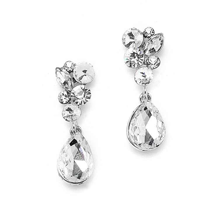 Crystal Bridal or Prom Earrings - Chicago Bridal Store Company