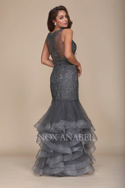 Steel Gray Mermaid Dress - Chicago Bridal Store Company