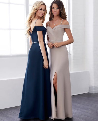 Off Shoulder Chiffon Dress 22825 - Chicago Bridal Store Company
