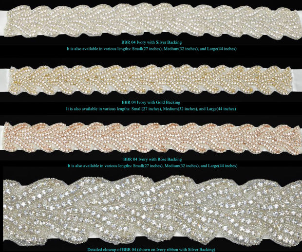 Bling Rhinestone Bridal Belt ~ Style Bride-004 - Chicago Bridal Store Company
