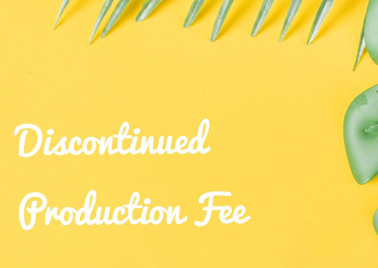 Discontinued Dress Production Fee - Chicago Bridal Store Company