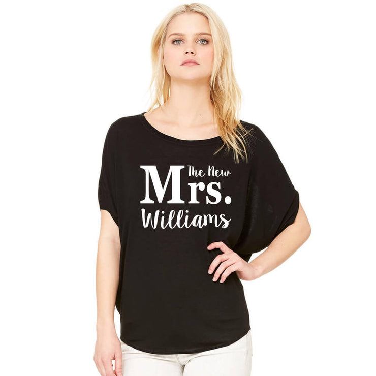 Personalized Future, The New or Soon To Be Mrs. Flowy Dolman Tee - Chicago Bridal Store Company