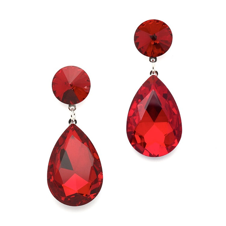 Color Splash Pear-shaped Drop Earrings - Chicago Bridal Store Company