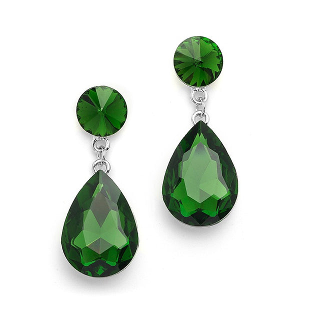 Color Splash Pear-shaped Drop Earrings - - Chicago Bridal Store Company