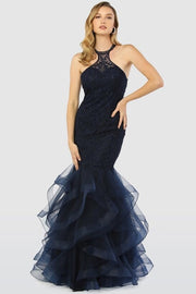 The Aubrey Mermaid Gown in Navy - Chicago Bridal Store Company