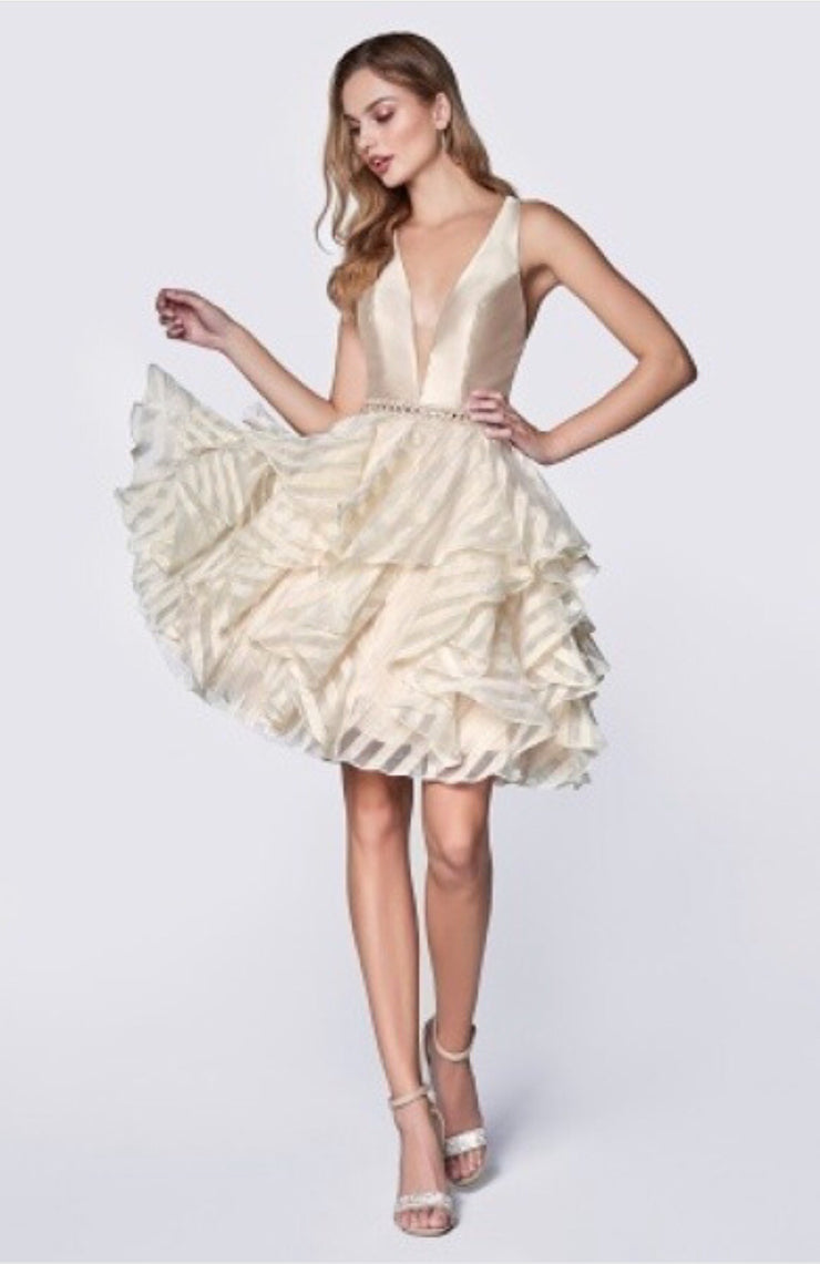The Miranda Organza Short Dress - Chicago Bridal Store Company