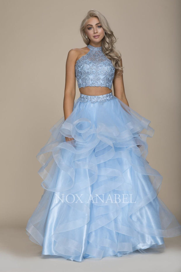Breathtaking Blue 2-Piece  Prom Dress - Chicago Bridal Store Company