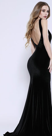 Black Velvet Mermaid Dress - Chicago Bridal Store Company