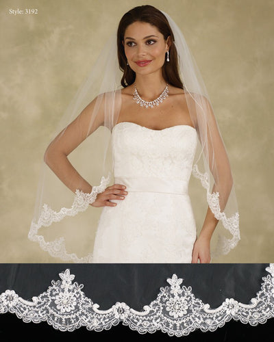 Marionat Le Crystal Veil Style 3192 - Chicago Bridal Store Company