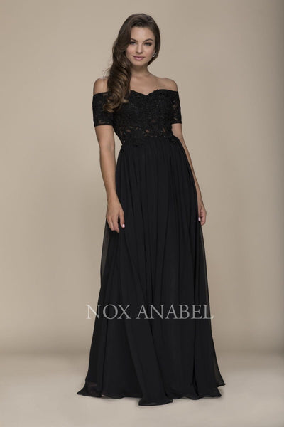 Black Off Shoulder 2018 Prom Dress - Chicago Bridal Store Company