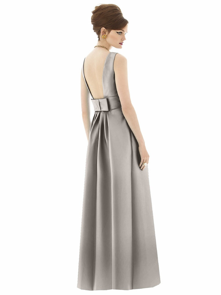 Full Length Sateen Twill Dress Style D661 - Chicago Bridal Store Company