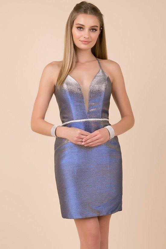 Purple Cocktail Length Dress - Chicago Bridal Store Company