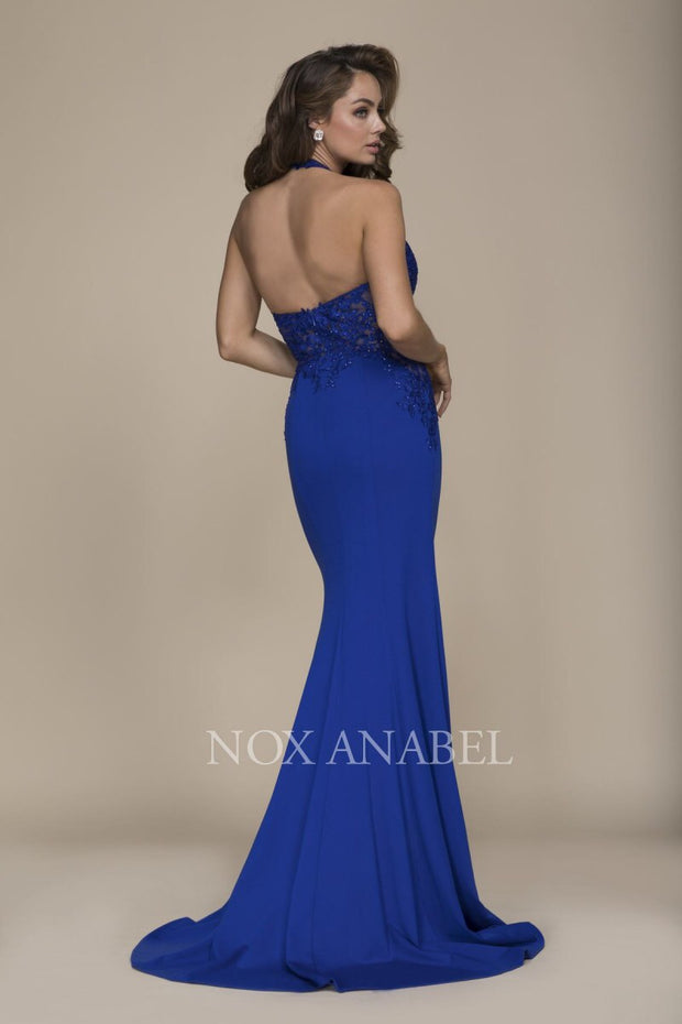 Royal Blue Halter 2018 Prom Dress - Chicago Bridal Store Company