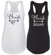 Tribal Bride and Bride Squad Racerback Tank Top - Chicago Bridal Store Company