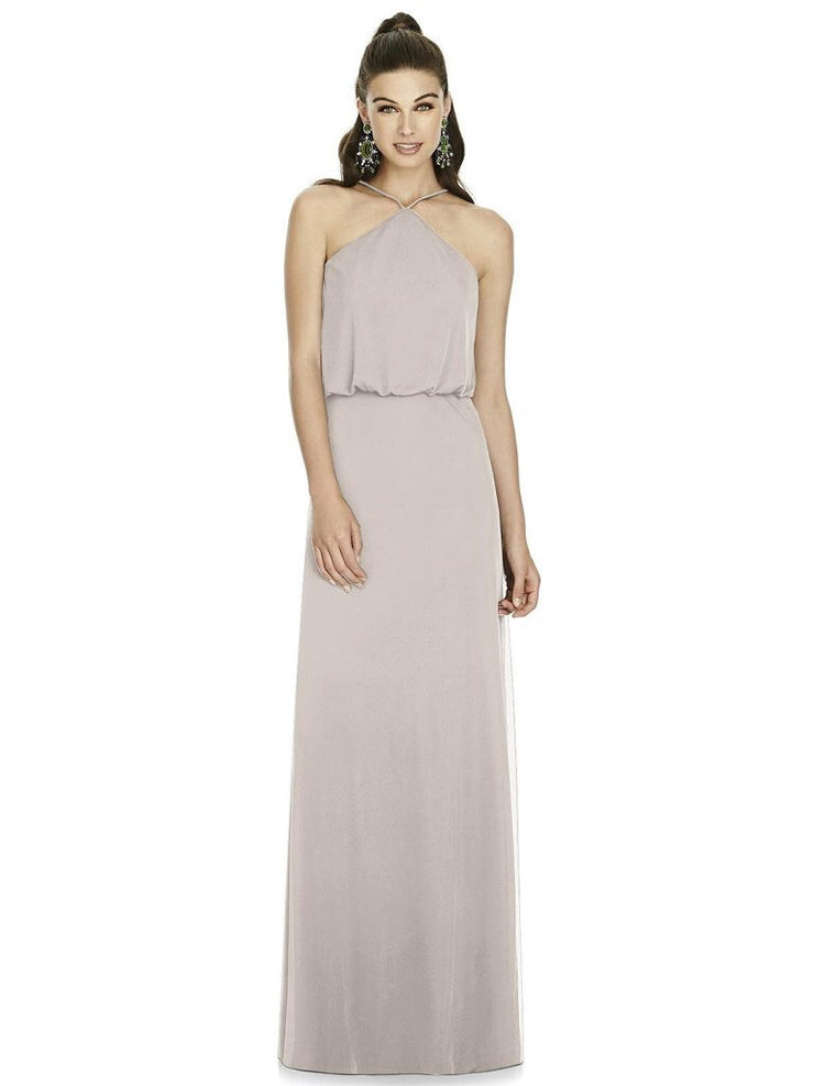 Alfred Sung Halter Dress Style D738 - Chicago Bridal Store Company