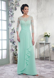 A Line Lace Sleeved Mother's of Bride/Groom Style 108003 - Chicago Bridal Store Company