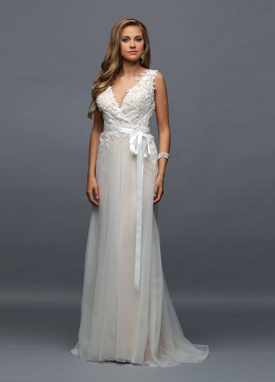 Tulle & Lace Destination Wedding Gown - Chicago Bridal Store Company