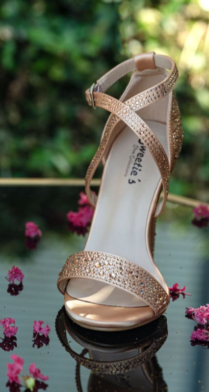 Miss Ruby Gold Shoe - Chicago Bridal Store Company