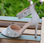 Miss Tori Sliver Shoe - Chicago Bridal Store Company