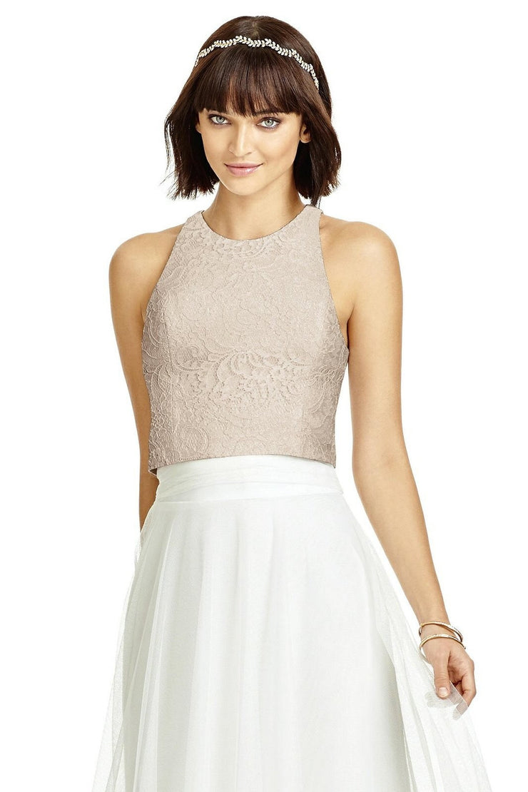 Dessy Marquis Lace TOP Only Style T3003 - Chicago Bridal Store Company