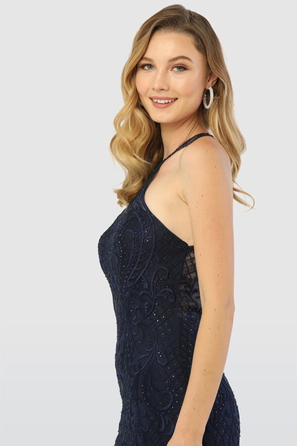 The Aubrey Mermaid Gown in Navy