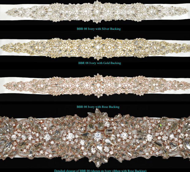 Bling Rhinestone Bridal Belt ~ Style Bride-008 - Chicago Bridal Store Company