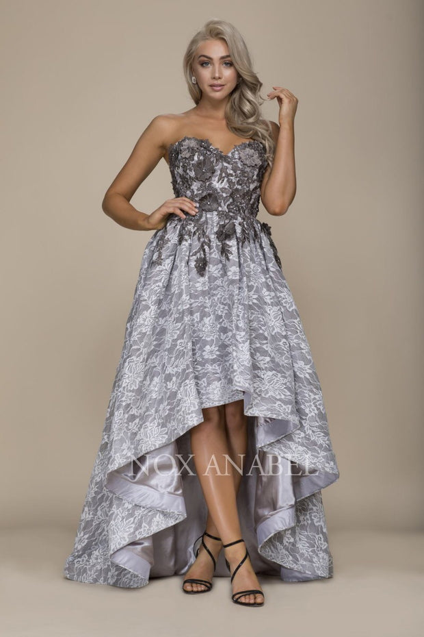 GRAY FLORAL 2018 Dress - Chicago Bridal Store Company