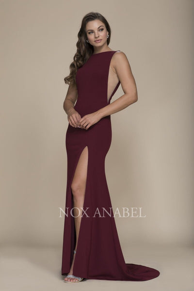 Burgundy Long Prom Dress - Chicago Bridal Store Company