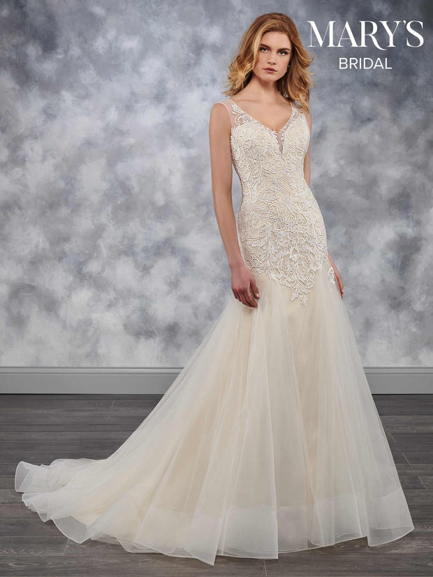 Fit &Flare Wedding Dress with Chapel Train - Chicago Bridal Store Company