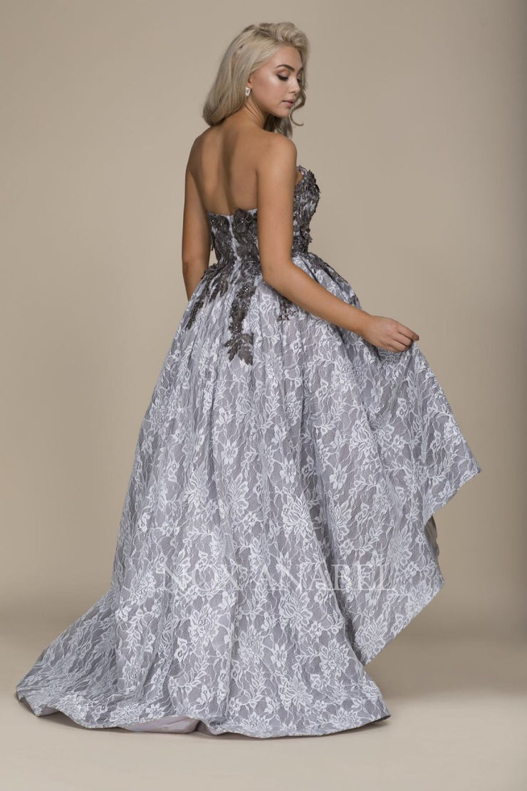 GRAY FLORAL Dress - Chicago Bridal Store Company