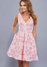 BLUSH PINK FLORAL EMBROIDERED SHORT DRESS