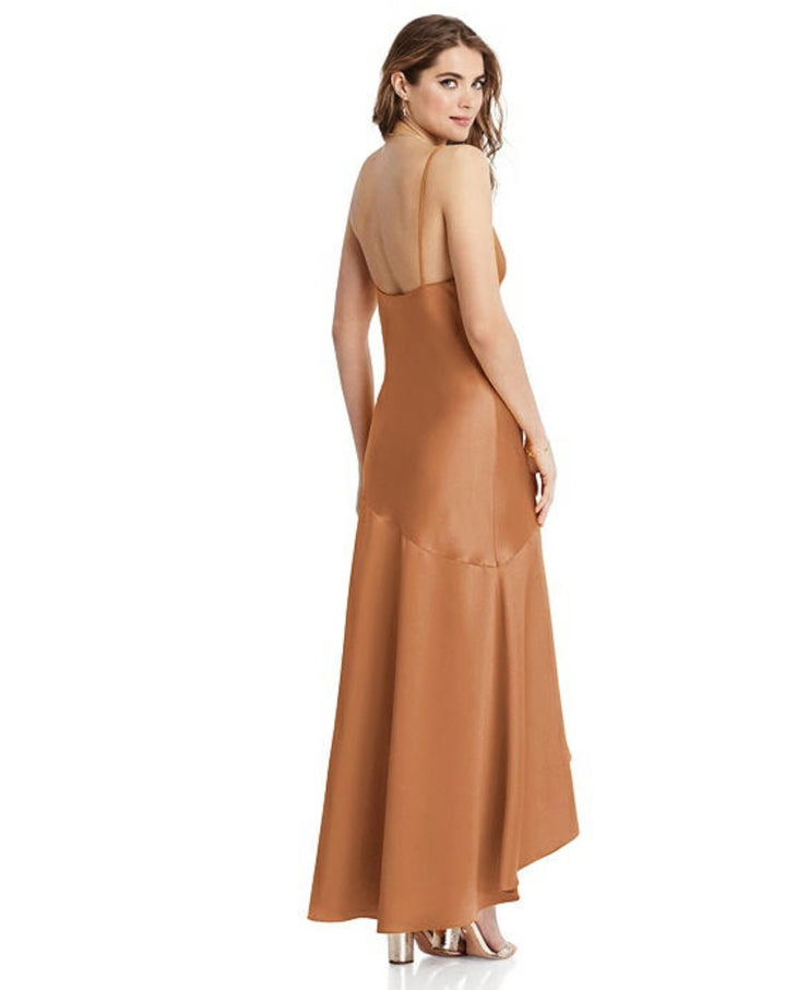 2020 Lovely Asymmetrical Drop Waist High-Low Slip Dress - Devon - Chicago Bridal Store Company