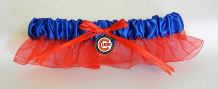 Chicago Cubs Wedding Garter Set - Chicago Bridal Store Company
