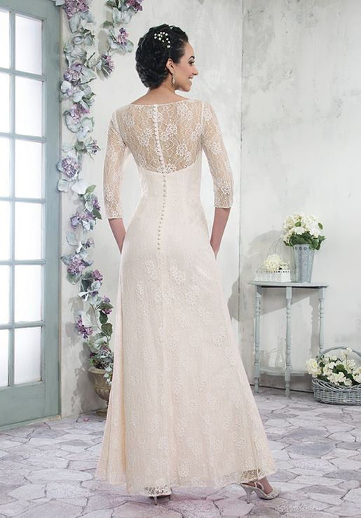 A Line 3/4  Lace Sleeved Mother's of Bride/Groom - Chicago Bridal Store Company