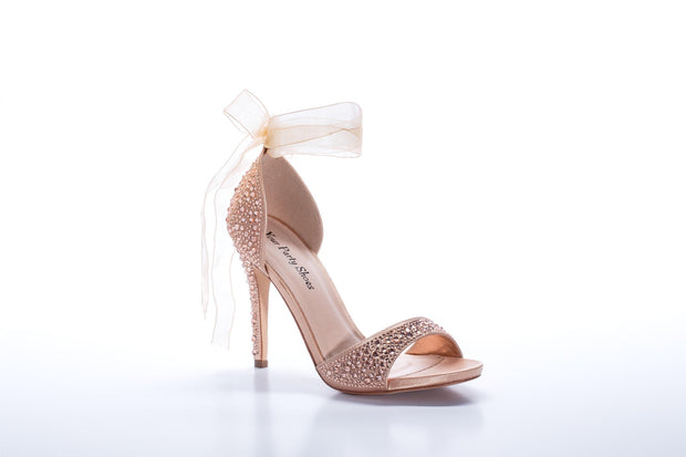 "Carley ""Shoe"" Rose Gold - Chicago Bridal Store Company"