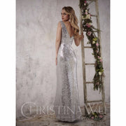 Christina Wu Occasions 22708 V Neck Sequin Bridesmaid Gown - Chicago Bridal Store Company