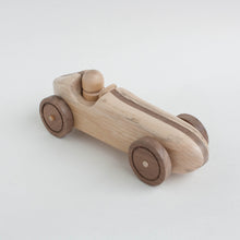 "wooden vintage ""dual tone"" race car"