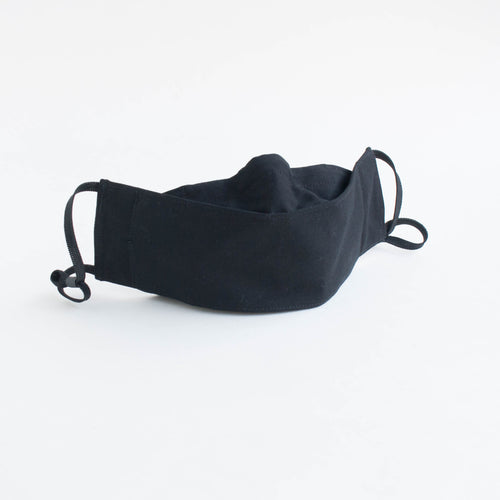 3D face mask - plain black