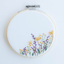wildflowers - framed embroidery