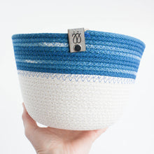 indigo ombre cotton basket