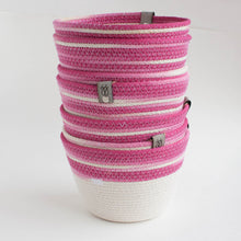 hot pink ombre cotton basket