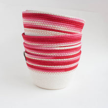 cherry ombre cotton basket