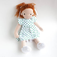 waldorf doll with red hair