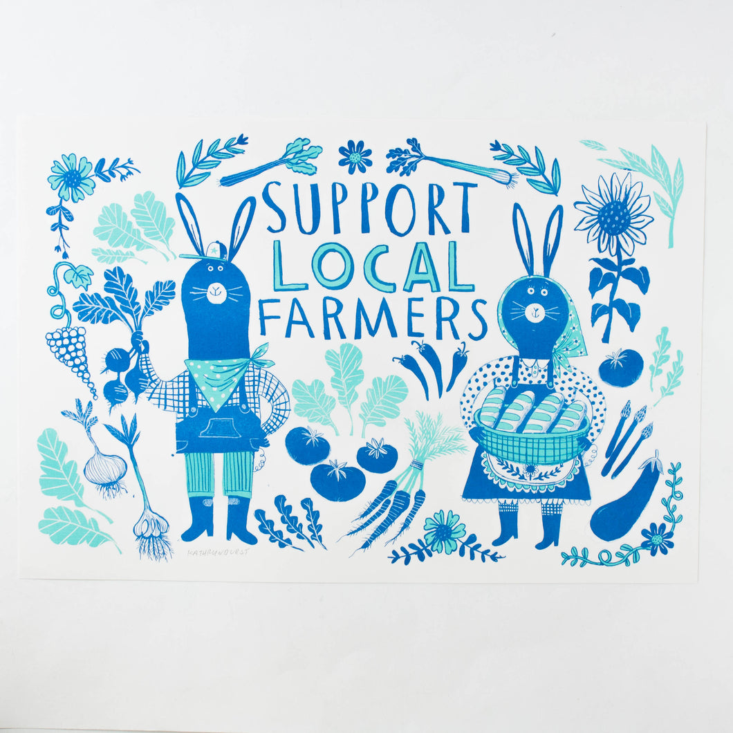 Support Local Farmers - 11x17