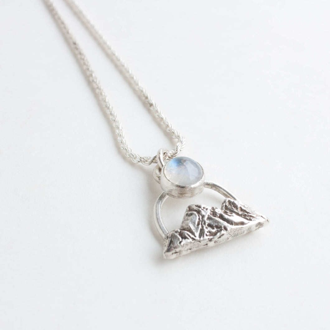 moonstone mountain necklace