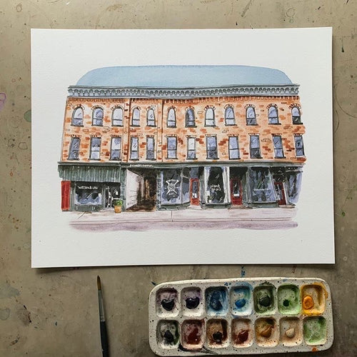 water street watercolour print