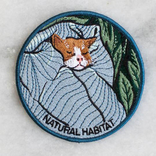 natural habitat iron-on patch